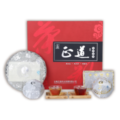 天賜普洱 普洱茶磚、沱、餅組合養生茶禮盒