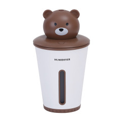 呆萌可爱小熊加湿器 usb办公桌面家用车载空气净化器 环保小礼品
