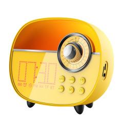 REMAX 复古桌面收音机蓝牙音箱5.0 多功能闹钟夜灯蓝牙音箱 年会安慰奖品 商务型礼品