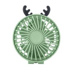 手持USB充电折叠迷你风扇 桌面超静音可调档大风力灯光小风扇 推销小礼品 广州夏季活动礼品