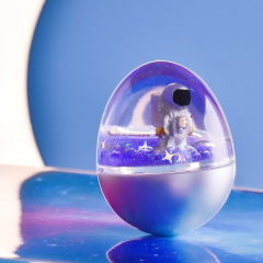 space travel液体流沙不倒翁 创意桌面摆件 解压玩具