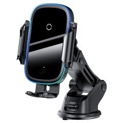 Baseus倍思 光线吸盘电动红外感应支架无线充 出风口双模式车载支架 公司定制礼品
