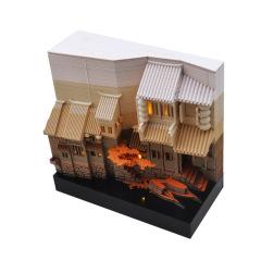 江南水乡建筑模型时光日历 立体光阴3D日历艺术书立 高端定制礼品