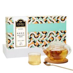 【花漾茶语礼盒】chali 精选花茶*30包、花茶玻璃茶壶*1、 花茶杯*2 搞活动送什么小礼品好