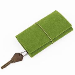 环保毛毡包 毛毡钥匙包 创意绑带钥匙包定制