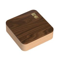 MUSOR 实木四格果盘带盖分格干果盘收纳盘 中高端创意礼品