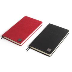 【锦翼】原创设计金属铭牌笔记本 羊纹桃绒封皮记事本  高端商务礼品