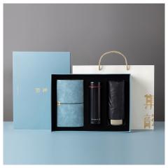 集韵 商务礼盒三件套 商务手账本+便携遮阳伞+轻便随身杯组合套装 有哪些定制礼品