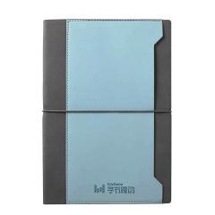 A5撞色插袋绑带笔记本 商务办公会议记事本 笔记本礼品定制