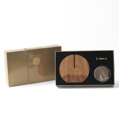 香滿月 禪意盤香爐木質香托家用室內檀香爐桌面擺件創意禮物