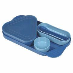贝比组合餐盘套装 宝宝分隔餐盘 含勺叉防滑带盖餐具 早教机构礼品