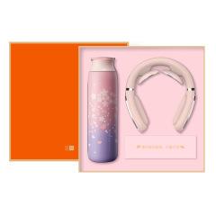 【勿一】樱花限定款礼盒 保温杯+智能颈椎按摩仪 女性员工激励礼品