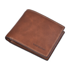 男士短款钱包复古 多功能驾驶证包 时尚休闲多卡位   周年纪念品