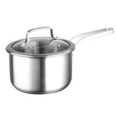 不锈钢奶锅18cm均匀导热不挑炉具不锈钢汤锅 企业定制产品
