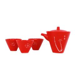 【苏州博物馆】梅花喜神谱一壶三杯旅行套装  精美的会议礼品