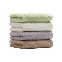 素色缎档纯棉面巾 实用美观 活动奖品买什么好