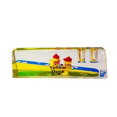 小黄鸭卡通镇纸笔插 创意实用 奖励小礼品有哪些