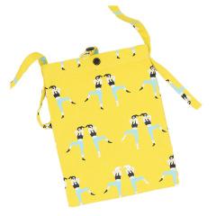 带纽扣原创手工斜跨小包包 黄色跳操款 小礼品有哪些