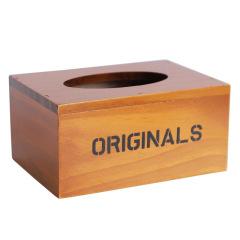 小号复古木制抽纸盒 简约设计 活动礼品