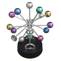 创意摆件办公家居礼品工艺品电动磁性天体模型彩球摇摆     摆件礼品