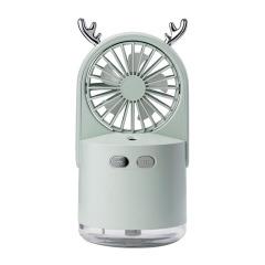 夏季小救星小鹿喷雾风扇 可爱创意桌面加湿补水充电迷你电风扇 时尚小礼品 旅行社礼品