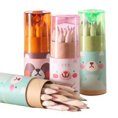 12色彩色铅笔套装 盖子带卷笔刀 小学生火爆礼品