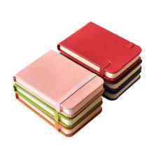 随身迷你口袋本 小清新多色绑带记事本 简约PU笔记本A7 展会创意礼品