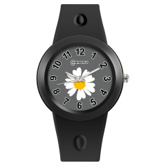 韩版ins风小雏菊刻度电子手表 防水石英针扣腕表 趣味礼品