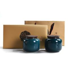 陶瓷茶叶罐密封茶叶包装盒大号8两红茶绿茶白茶茶罐 礼品定制LOGO