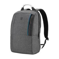 瑞动(SWISSMOBILITY)时尚休闲商务背包 双色麻布双肩包 商务笔记本电脑包