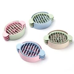 厨房小麦秸秆切蛋器 花式多功能皮蛋分蛋器 厨房创意礼品
