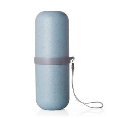 梵特小麦秸秆旅行便携洗漱收纳杯--蓝色