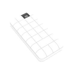 简约格纹充电宝 数显大容量移动电源10000毫安 数码小礼品