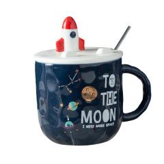 太空宇航员马克杯 陶瓷杯手机支架创意大肚杯 公司年会礼品