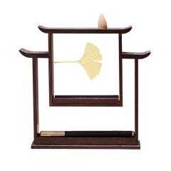 書香門第文房香器 紫檀木倒流香爐香插線 紀念禮品
