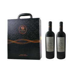 黑色老爺車-雙支皮盒裝 紅酒禮盒套裝春節送客戶訪友送禮禮盒 春節活動小禮品有哪些