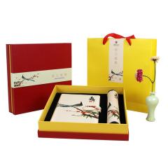 喜上眉梢 特色中国风绸笔记本鼠标垫套装 有特色的公司礼品