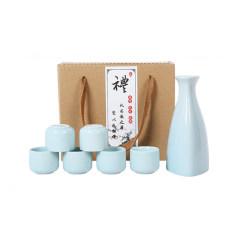 陶瓷酒壶酒具7头套装 白酒杯分酒器简约随手礼 送领导礼品