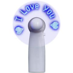 创意发光闪字小风扇广告小风扇定制