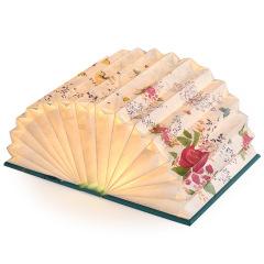创意便携书灯 小本花海屏风暖光书灯 生日礼物