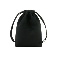 黑色桃皮绒抽绳小布袋 便携实用 活动伴手礼