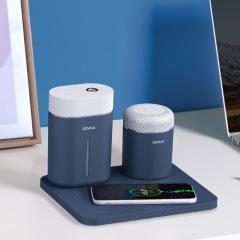 无线小电组合 加湿器+蓝牙音箱+无线充电底板办公套装 送客户实用小礼品