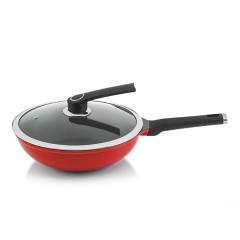 德国NOLTE 烹饪少烟高级不粘锅 可立式锅盖 展会礼品准备