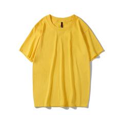 春夏款宽松素色纯棉T恤 圆领短袖衫 团体文化衫定制