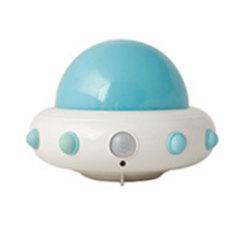 遥控飞碟小夜灯 创意卧室人体感应灯 活动小礼品
